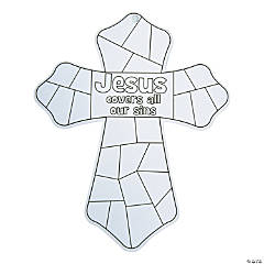 Color Your Own Jesus Covers All Our Sins Crosses