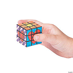 Color Your Own Jesus Loves Me Mini Puzzle Cubes