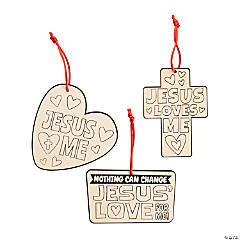 Color Your Own Jesus Loves Me Ornaments