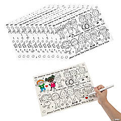 Color Your Own Jesus Loves the Children Accordion Cards