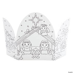 Color Your Own Jesus Nativity Trifold Scenes
