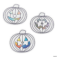 Color Your Own Jumbo Jack-O'-Lantern Cutouts
