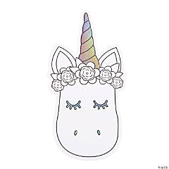 Color Your Own Jumbo Unicorn Cutouts