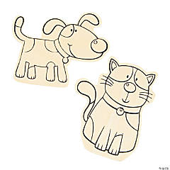 Color Your Own Large Dog & Cat Shapes