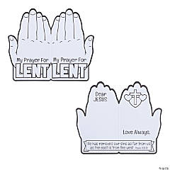 Color Your Own Lent Praying Hands