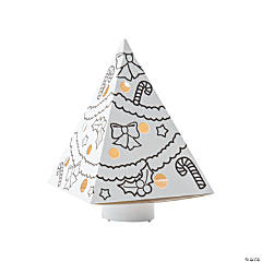Color Your Own Luminary Christmas Trees
