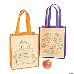 Color Your Own Medium Christian Halloween Tote Bags