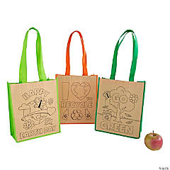 Color Your Own Medium Earth Day Tote Bags