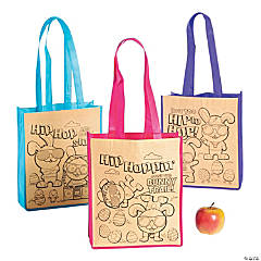 Color Your Own Medium Easter Tote Bags
