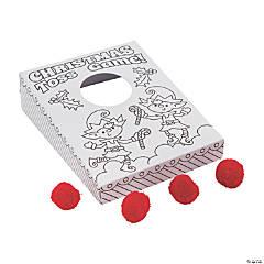 Color Your Own Mini Christmas Cornhole Games