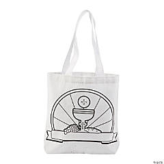 Color Your Own Mini Communion Canvas Tote Bags