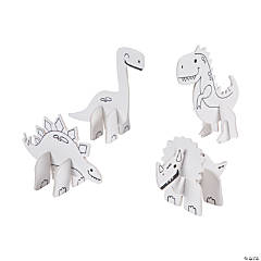 Color Your Own Mini Dinosaur Characters