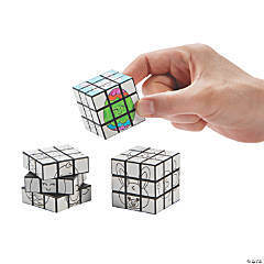 Color Your Own Mini Easter Puzzle Cubes