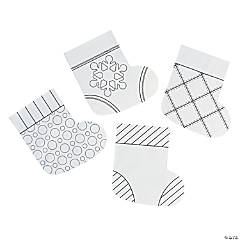 Color Your Own Mini Paper Christmas Stockings