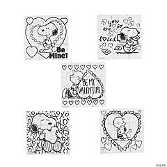 Color Your Own Mini Peanuts® Valentine Puzzles