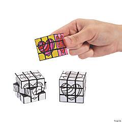 Color Your Own Mini Valentine Puzzle Cubes