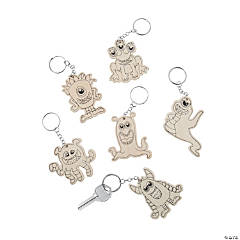 Color Your Own Monster Keychains
