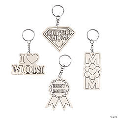 Color Your Own Mother's Day Keychains