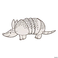 Color Your Own Movable Western Armadillos