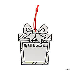 Color Your Own My Gift to Jesus Ornaments