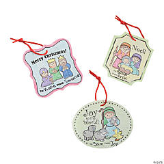 Color Your Own Nativity Gift Tags