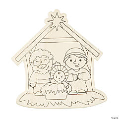Color Your Own Nativity Shapes
