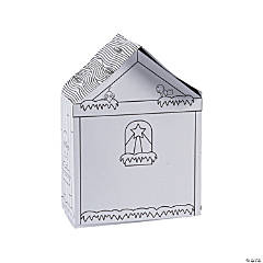 Color Your Own Nativity Stables with Stickers