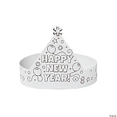 Color Your Own New Year's Crown