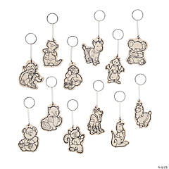 Color Your Own Pajama Crew Collectable Keychains