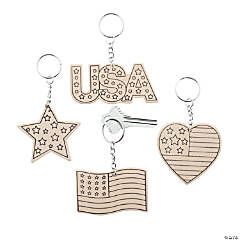 Color Your Own Patriotic Keychains