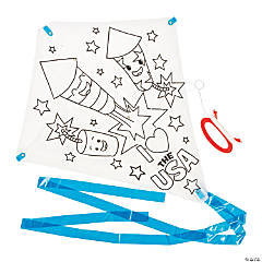 Color Your Own Patriotic Kites