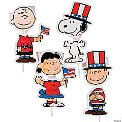 Color Your Own Peanuts® Patriotic Sucker Holders