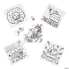 Color Your Own Peanuts® Christmas Puzzles