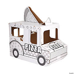 Color Your Own Pizza Truck Playhouse