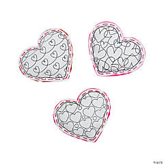 Color Your Own Plush Heart Lacing Craft Kit
