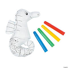 Color Your Own Plush Seahorses