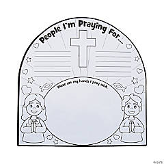 Color Your Own Prayer Handprint Sign