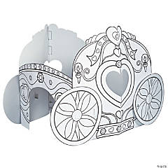 Color Your Own Princess Carriage Playhouse