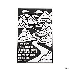 Color Your Own Psalm 23:4 Fuzzy Posters