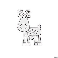 Color Your Own Reindeer Shapes