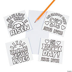Color Your Own Religious Easter Notepads