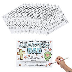 Color Your Own Religious Greatest Dad Certificates