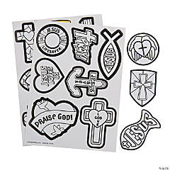 Color Your Own Religious Stickers