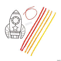 Color Your Own Rocket Craft Kit