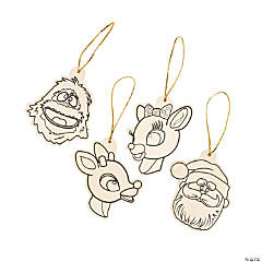 Color Your Own Rudolph the Red-Nosed Reindeer® Ornaments
