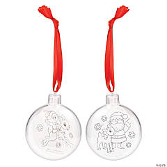 Color Your Own Rudolph the Red-Nosed Reindeer® Ornament Craft Kit