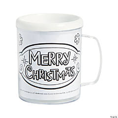 Color Your Own Rudolph the Red-Nosed Reindeer® Plastic Mugs