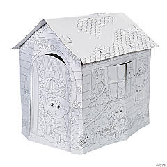 Color Your Own Santa's Workshop Playhouse