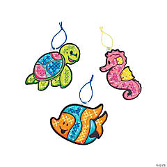 Color Your Own Sea Life Cross Stitch Ornament Craft Kit