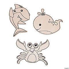 Color Your Own Sea Life Shapes